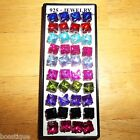 Many Colors! NEW Pretty .925 Silver 9mm x 9mm Square Post Gift Crystal Earrings