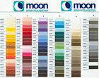 MOON SEWING THREAD BY COATS BOX OF 10 OF SAME COLOUR - FREE UK 1ST CLASS POST