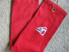 ***SUPER PLUSH TRI-FOLDED RED Golf Towel; Choice of NCAA TEAM; FREE GIFT