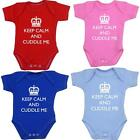 Keep Calm Cuddle Me Bodysuit Vest Fun Slogan Baby Clothes Girls Boys NB - 12mths