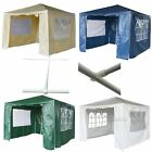 New 3 x 3m 120g Waterproof Outdoor PE Garden Gazebo Marquee Canopy Party Tent