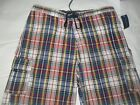 CLUB ROOM for Macy's Plaid Velcro close Surf Swimming Boarding Short Trunks