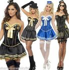Ladies Sexy Corset Cop Sailor Army Gangster Hen Do Fancy Dress Costume Outfit