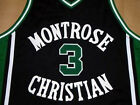 KEVIN DURANT MONTROSE HIGH SCHOOL JERSEY Black  NEW -  ANY SIZE S - 5XL