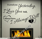 Large LOVE Wall STICKER  Wall Quote Removable Sticker S45