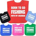 BabyPrem Born Fishing Grandad Cotton Velcro Feeding Bib Baby Clothes Boys Girls