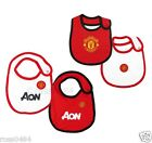 Manchester United FC Baby Infant Feeding Bib MUFC Red Black White Bibs Gift