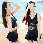 Women's Swimwear Elegant One-piece Swimsuit Swimdress Beach skirt Bathing suit
