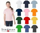 Stedman by Hanes Childrens Boys/Girls Plain Cotton T-shirts (For Age 5-14)