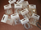 DOVECRAFT CRYSTAL/DIAMANTE  NUMBERS & LETTERS STICKERS A-Z - 0-9