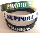 NEW - PROUD 2 SUPPORT OUR TROOPS WRISTBAND Bracelet Donations to Help for Heroes
