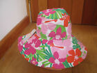 MONSOON ACCESSORIZE FAB BRIGHT TROPICAL RETRO CIRCLES 70S 60S SUMMER SUNHAT NEW