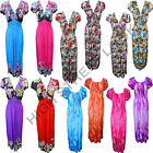 LADIES SHEERING BOOB TUBE MAXI PARTY DRESS ALL PRINTED COLORS AND SIZES 8-14