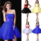 Sweety Womens Voile Satin Bridesmaid Wedding Party Evening Cocktail Short Dress