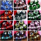 5x Large Hole Crystal Glass Spacer European Charm Bead Fit Bracelet Chain 9x14mm
