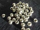 Bright Silver Tone Plastic Beads 4, 6, 8 mm Round Jewelry Making Spacer/Findings