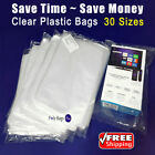 Clear Poly Plastic 1-Mil Bags for T-Shirt Apparel Packaging Open Top Baggies