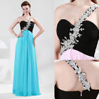 New Sexy One Shoulder Beaded Evening Formal Ball Gown Party Prom Wedding Dress