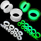 GLOW IN THE DARK FLEXI SILICONE FLESH TUNNEL EAR PLUG EXPANDER TAPER 4mm to 30mm