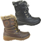 LADIES WOMENS FLAT WARM FUR LINED GRIP SOLE WINTER SNOW ANKLE BOOTS SHOES SIZE