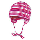 Maximo Baby Girls Hat With Stripes, Cotton Hat W/Ear Flaps And Strings