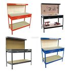 Steel Garage Tool Box Work Bench Storage Pegboard Shelf DIY Workshop Station New
