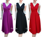 Cocktail Evening Bridesmaid Dress Black Red Purple Size 24 22 20 18 16 14 12 New