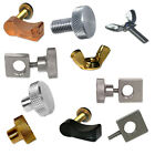 Tattoo Machine Parts Thumb Nut Screw or Tube Vise CHOOSE Stainless Brass Nickel