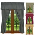Window Curtain Set - 5 Piece Set Includes 2 Panels, 1 Valanc