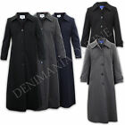LADIES COAT WOMENS JACKET LONG TRENCH COLLARED ABAYA MAC LINED BUTTONS CASUAL