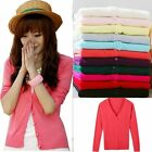 Women Lady Fashion Long-Sleeved Cardigan Knitted Sweater Tops Multi Colors F348