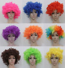 2 X Afro Curly Clown Disco Hair Wigs Costume Party Fancy Dress Curly Adult Kids