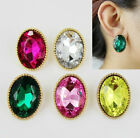 Crystals Oval 6 Colors Lady's Earrings