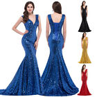 New Sexy Formal Long Chiffon Beaded Cocktail Bridesmaid Evening Prom Gowns Dress