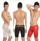 New Men Sexy Mesh Gym Boxer Bulge Pouch Stretch Low Rise Shorts Underwear # KN03