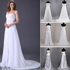 Stock Bridal Gowns Prom Bridesmaid Ball Evening Wedding Dress Party Maxi Sz 6-16