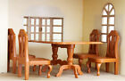 Miniature Doll House Furnitures Dining Table with 4 Chair for Sylvanian Families
