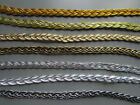 Silver & Gold Plait Braid Trim 1cm    Sewing/Crafts/Costume/Corsetry