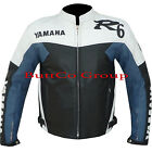 YAMAHA R6 Cowhide Leather Motorcycle Motorbike Biker racing Jacket FREE UK SHIP