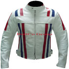 New Design WHITE COWHIDE LEATHER Motorcycle Motorbike Biker Racing Armour Jacket