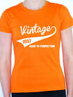 VINTAGE 1957 AGED TO PERFECTION -Birth Year/Birthday Gift Themed Women's T-Shirt