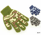 New Kids Magic Gripper Gloves Camouflage Design 3 Colours Acrylic Winter BNWT