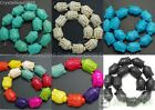 "Howlite Turquoise Gemstone 20mm x 30mm Buddha Head Loose Spacer Beads 16"" Strand"