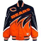NFL Chicago Bears SLASH Twill Red zone On Fire Jacket By NFL Team Apparel S-5XL
