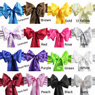 5 pieces Wedding Party Banquet 6x108inch Satin Chair Cover Sash Bow 16 color