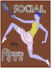 2934.Social Cover Tennis Purple Lady POSTER.Room Home Office art decoration.