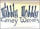 Wibbly Wobbly Timey Wimey Doctor Who Precision Cut Vinyl Decal - Choose Color