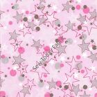 All Stars Pink - All Stars Collection - Benartex 5929-22 (sold by the 1/2 yard)