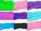 rubber finished neon colors glass round loose beads various sizes and colors