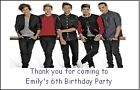PERSONALISED ONE DIRECTION MAGNETS - PARTY BAG FILLERS / GIFTS
